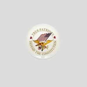 True Patriots Defend the Constitution Mini Button
