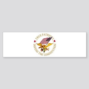 True Patriots Defend the Constitu Sticker (Bumper)