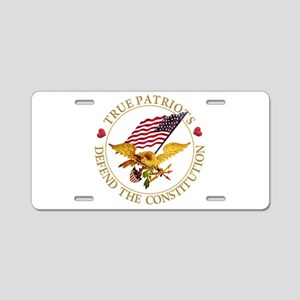 True Patriots Defend the Co Aluminum License Plate