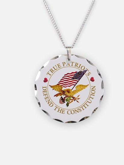 True Patriots Defend the Con Necklace