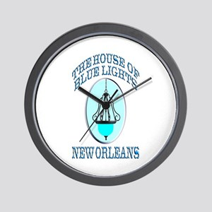 House of Blue Lights Wall Clock