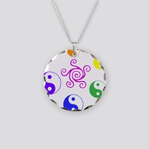 Yin Yang Rainbow Necklace