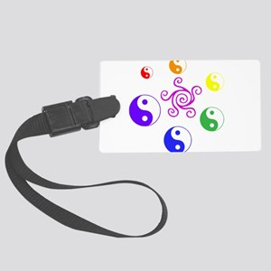 Yin Yang Rainbow Luggage Tag