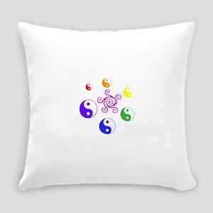 Yin Yang Rainbow Everyday Pillow