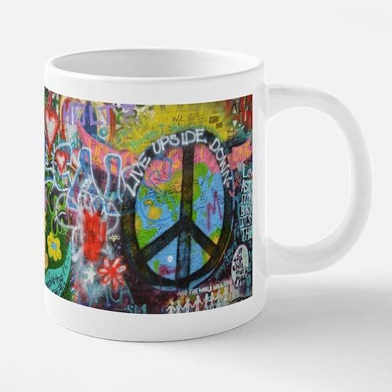 Love & Peace on the Lennon Wall Mugs