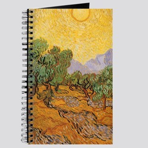 Van Gogh Olive Trees Yellow Sky Sun Journal