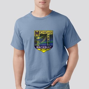 Mackinac Island Michigan Bridge Vintage T-Shirt