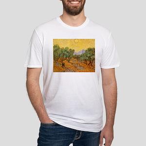 Van Gogh Olive Trees Yellow Sky Sun T-Shirt