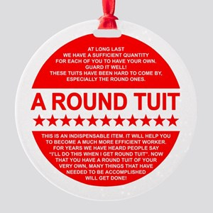 A Tuit Round Ornament