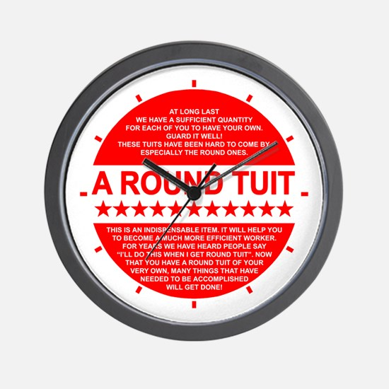 A Round Tuit Novelty Wall Clock