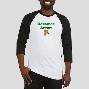 Retainer Artist Rainbow Green Baseball Jersey