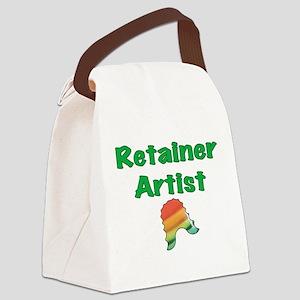 Retainer Artist Rainbow Green Canvas Lunch Bag