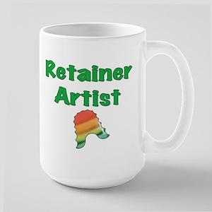 Retainer Artist Rainbow Green Large Mug