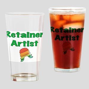 Retainer Artist Rainbow Green Drinking Glass