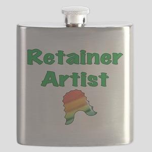 Retainer Artist Rainbow Green Flask