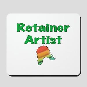 Retainer Artist Rainbow Green Mousepad
