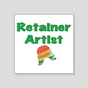 "Retainer Artist Rainbow Gre Square Sticker 3"" x 3"""