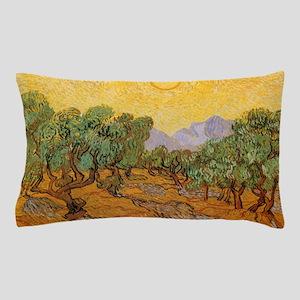 Van Gogh Olive Trees Yellow Sky Sun Pillow Case