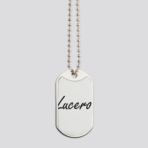 Lucero artistic Name Design Dog Tags
