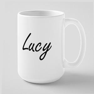 Lucy artistic Name Design Mugs