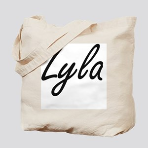 Lyla artistic Name Design Tote Bag
