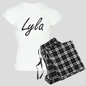Lyla artistic Name Design Women's Light Pajamas