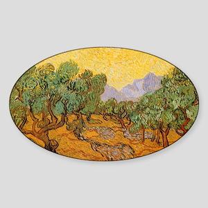 Van Gogh Olive Trees Yellow Sky Sun Sticker