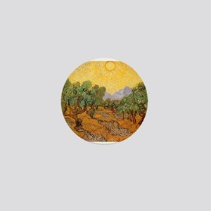 Van Gogh Olive Trees Yellow Mini Button (10 pack)