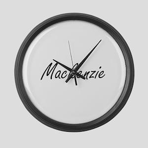 Mackenzie artistic Name Design Large Wall Clock
