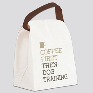 Coffee Then Dog Training Canvas Lunch Bag