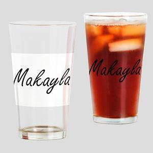 Makayla artistic Name Design Drinking Glass