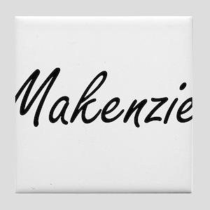 Makenzie artistic Name Design Tile Coaster