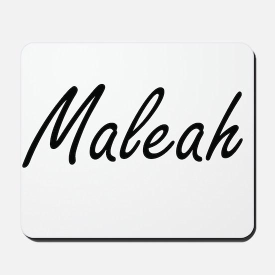 Maleah artistic Name Design Mousepad