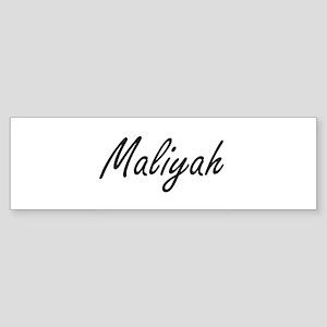 Maliyah artistic Name Design Bumper Sticker
