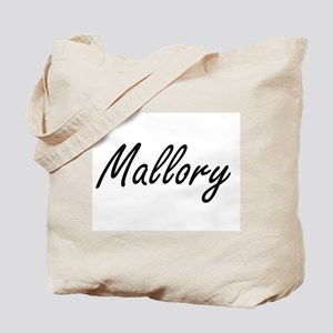 Mallory artistic Name Design Tote Bag