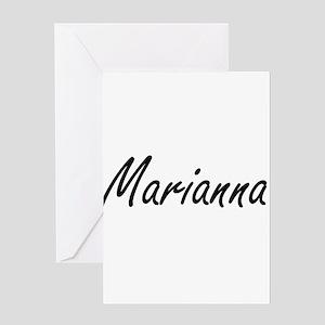 Marianna artistic Name Design Greeting Cards