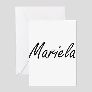 Mariela artistic Name Design Greeting Cards