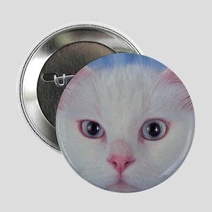 """White Cat 2.25"""" Button"""