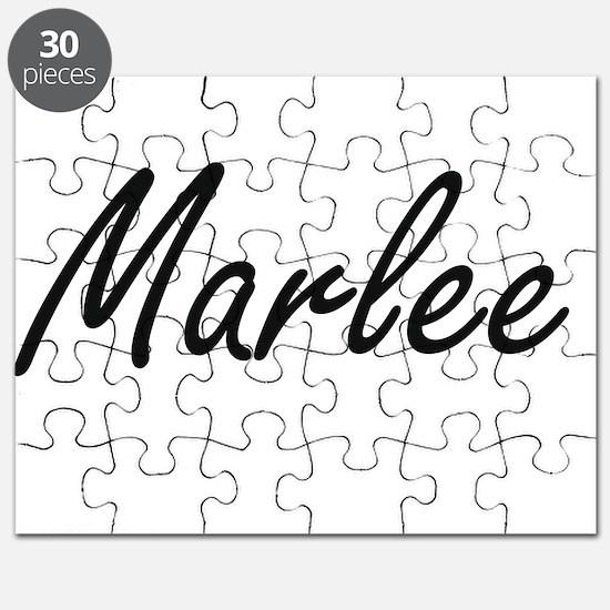 Marlee artistic Name Design Puzzle