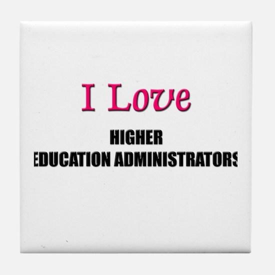 I Love My ACADEMIC LIBRARIAN Tile Coaster