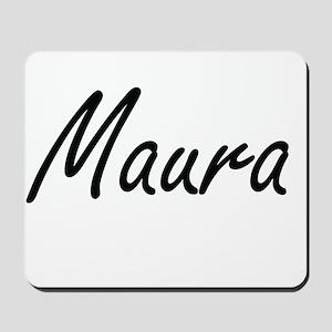 Maura artistic Name Design Mousepad