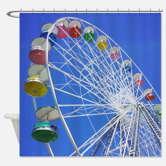 Knoebels Big Wheel Shower Curtain