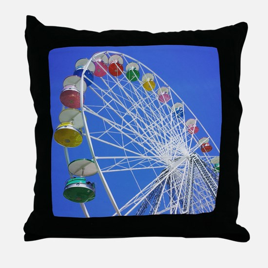 Knoebels Big Wheel Throw Pillow
