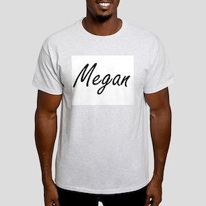 Megan artistic Name Design T-Shirt