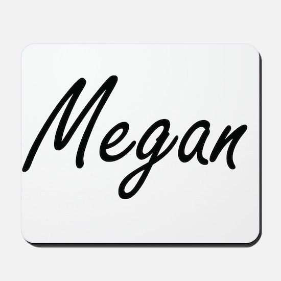 Megan artistic Name Design Mousepad