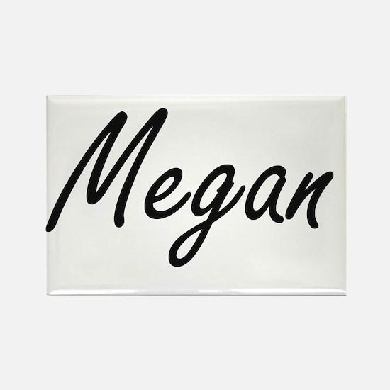 Megan artistic Name Design Magnets