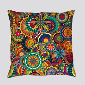 Funky Retro Pattern Everyday Pillow