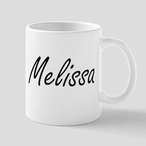 Melissa artistic Name Design Mugs