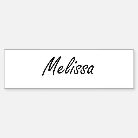 Melissa artistic Name Design Bumper Bumper Bumper Sticker