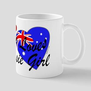 Loves an Aussie Girl Mug